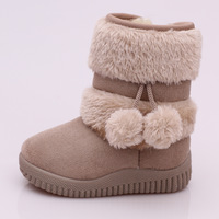 BAY142 New children's snow boots girls winter fur baby boy padded velvet waterproof boots thickening wholesale