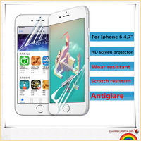 "100% Fit Wholesale 1000pcs Front LCD Clear Screen Protector Guard Film +1000pcs cleaning cloth For iPhone 6 4.7"" Free dhl #FL27"