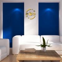 Hot Selling Modern Design DIY Wall Clock Home Decor Mirror Sticker Art Decals Removable   K5BO