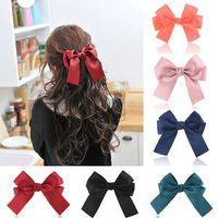 Women girl hair bows clips Boutique hair pin grosgrain ribbon bows hairpins kids girl hair accessories Free Shipping 65552-65557