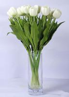 High Quality tulip flower real touch wedding flower 6PCS/LOT pu 63cm artificial flower silk flower home decoration
