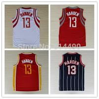 Houston #13 Harden white red yellow dark blue throwback vintage retro jersey REV 30 Basketball jersey Embroidery