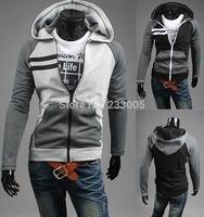 2014 New Fashion Patchwork Designs High Quality Mens Hoodies And Sweatshirts Casual Hip Hop Hoody Sweatshirts Sudaderas Hombre