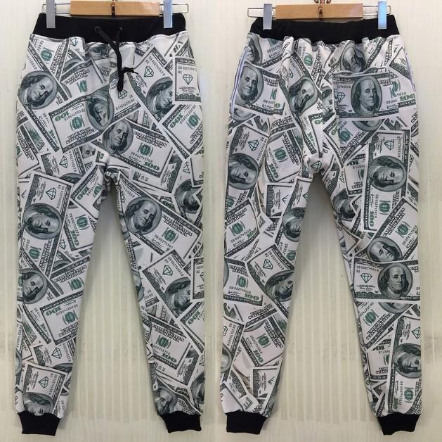 free shipping New men/women/Boy sport jogging pants 3D funny print USA dollar parkour running sweatpants long sleeve joggers(China (Mainland))