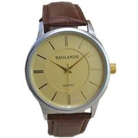 fashion brown band belt gold dial top luxury man watch 2015 new classical design japan quartz watches business wristwatch hour