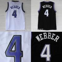 Sacramento 4 Chris Webber Jersey, Cheap Basketball Jersey Chris Webber New Rev 30 Embroidery Logo, Mens Free Shipping