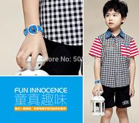 Casual Japan movemen children wristwatch zinc alloy 30m waterproof analog watch 3D cartoon silicone watchband stainless steel