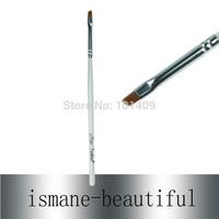 Free Shipping Wholesale 5pcs/Lot on Sale Nylon Hair Thin Wood Handle Angled Eyebrow Brush