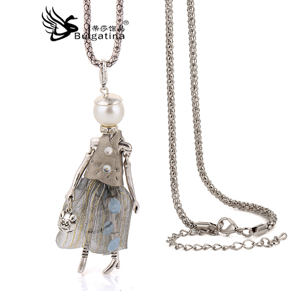Best Gifts Choker Doll Necklaces & Pendants For Girls Cute Style New Design Fashion Jewelry accessories Drop Pendant Necklaces(China (Mainland))
