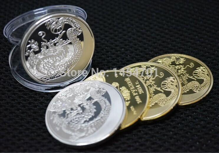 10 pz/lotto russia stile cinese drago dello zodiaco 100 rubli moneta