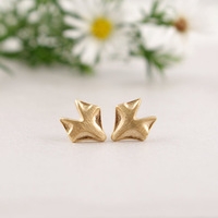Wholesale Gold Silver Fox Earrings Fox Stud Earring Jewelry For Women (mix color)