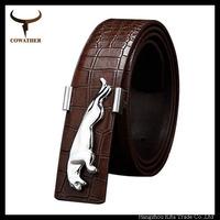 luxury belt fashion leopard metal buckle two lolors genuine leather belt for men strap fashion deisgn cowhide leather strap belt
