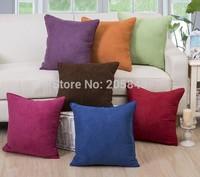 45*45 cm Solid Color Cushion Cover Pillowcase Sofa Pillow Cover Home Decoration Almofadas 7Clors