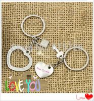 New True LOVE Heart Keychain Ring Keyring Key Chain Lover Romantic Creative Birthday Gift