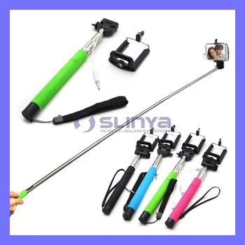 Z07-5s выдвижная ручной монопод аудио кабель проводной Selfie палку взять фото для iPhone 6 6 плюс Samsung