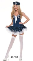FREE SHIPPING LADIES SEXY SEA CAPTAIN NAVY OFFICER SAILOR WHITE FANCY DRESS COSTUME OUTFIT NEW