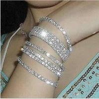OMH wholesale white jewelry fashion effulge elastic crystal women's bracelet SZ78