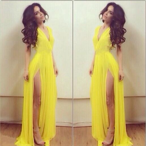 Yellow Prom Dresses Less Than $160 46