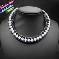Fashion luxury statement vintage choker bib collar neckaces for women 2014 High quality choker brand necklaces 4520