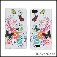 Butterfly Flower Wallet Leather Case for Wiko Lenny