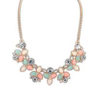 Free Shipping Fashion Women Alloy Bohemian Necklaces Chunky Bib Choker necklaces & pendants elegant lady's necklace