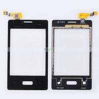Original Black Glass Touch Screen Digitizer Panel with Flex Cable for LG Optimus L3 E400 50pcs/Lot