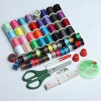 100Pcs Sewing Kit Thread Needle Tape Scissor Thimble Set