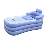 slimming health Adult Spa folding Portable bathtub inflatable bath tub with cushion  Foot air pump Gift Warm winter drain pipe