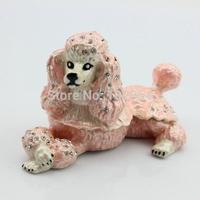 A Dog Poodles Trinket Display Box Jewelry Box Free Shipping