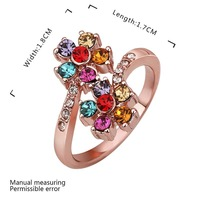 New Arrival Engagement Ring 18K Gold Plate Women Rings Made With Genuine SWA Elements Austrian Crystal Ring SMTPR547