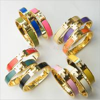 10pcs/lot Freeshipping 1.2cm Bracelet H bracelet For Women India Rose Gold Bangles Letter Clac Elegant Pulseiras Femininas