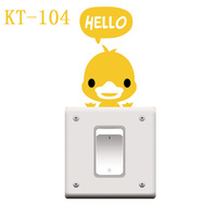 Free Shipping Duck Switch sticker,wall stickers home decor,Removable switch Stickers decorative Kids Room Home Decoration KT-104