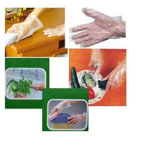 NEW 100pcs/Set Disposable PE Garden Hospital Kitchen Home Restaurant BBQ Plastic Multifuction Gloves Wholesale Retail(China (Mainland))