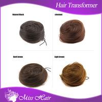 NEW accessory remy hair bun fashion hair accessory donut ring ponytail bun 100% natural Hairpiece Chignon
