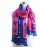 Hot letter Printed designer women Scarf fashion silk Scarves gifts shawl wholesale price 175*65cm PJ-09 3pcs/lot