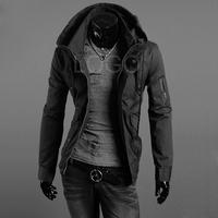 New Men Slim Fit Sexy Top Designed Hoodies Jackets Coats Black Size M