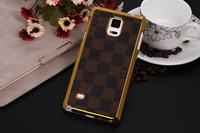 1PCS  Brand new deluxe embossed leather leather cases cover for Samsung Galaxy Note 4 capa celular free drop shipping