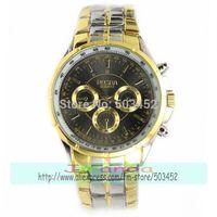 50pcs/lot ROSRA Brand Big Dial Alloy Watch Fashion Men Business Casual Watch Wrap Quartz Dress Wristwatch Hot Seller For Men
