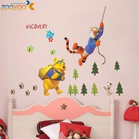 3d wall mural  wall sticker for kids room 3d wall mural zy711 50*70 new arrival eco-friendly decals tiger bear rabbit friend paw