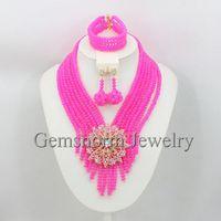 Chocker Beads Necklace Set 2015 Popular Gold Dubai Jewelry Set African Bridal Beads Set Free Shipping GS894