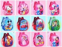 Children bags Retail 2015 New cute fashion boutique 3D students cartoon small Satchel Baby Boy/Girl Frozen schoolbag spiderman