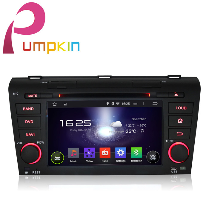 KD 7 2 din Android 4.4 Car DVD player GPS Navigation For Mazda 3 2004-2009+3G+Audio+Radio+Stereo+Bluetooth+DDR3 1.6GHz CPU(China (Mainland))