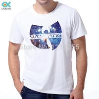 WU TANG Galaxy Rap 100% Cotton Hip Hop Band Fashion T Shirt Men Short Sleeve Camisetas O-Neck masculina Printed Custom Tee 22