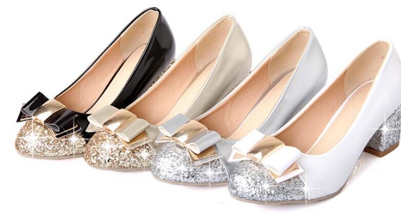 Doce fêmea escuro de nova cor lantejoulas ortografia sapatos baixos arco áspera com o documentário sapatos de casamento sapatos de senhora size34-43 C036(China (Mainland))