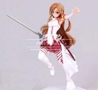 Anime Figure Height 17.5cm Sword Art Online Asuna Yuuki Kirito Action Figure Toys Children Christmas Gifts  J-0979