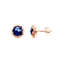 rose gold earrings for women hot sale 2014 New fashion Wholesale Free shipping jewelry CZ crystal silver earring WTB188