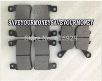 Motorcycle front rear brake Pads plate complete set for Honda CBR 600 F4/F4i Sport 99-06 2th CBR600 F5 03-06 VTEC 3