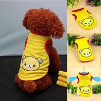 HQ Cute Pet Dog Cat Puppy Vest Clothes Bear Print T shirt Apparel Costume SizeXS-XL