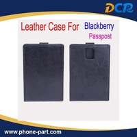 Free Shipping Open Up and Down Leather Case for BlackberryPasspost Case, 3colors in stock