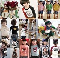 100% cotton 2015 children t-shirt child tops tees kids clothes boys blouse girls long sleeve t shirt  9 models albb